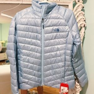 Light Blue North Face Parka